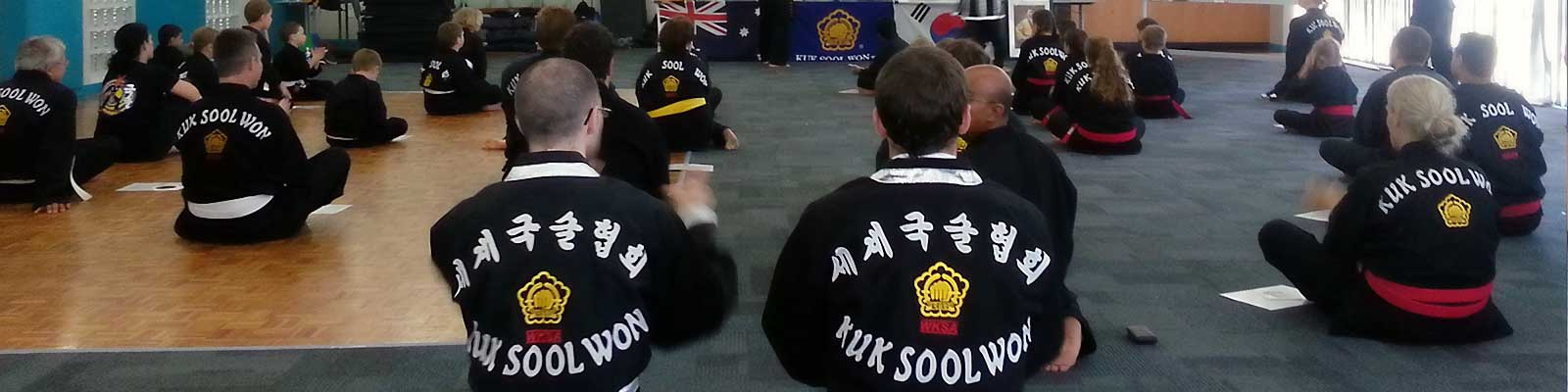Seated group during KSW grading